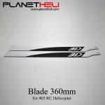 360mm Carbon Fiber Blades for Devil 465 or any 360mm Blade RC Helicopter
