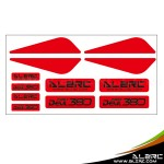ALZRC - Devil 380 FAST Plastic Landing Skid Color Sticker - Red