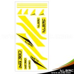 ALZRC - Devil 380 FAST Carbon Vertical Stabilizer Color Sticker - Yellow