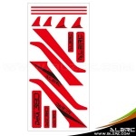 ALZRC - Devil 380 FAST Carbon Vertical Stabilizer Color Sticker - RED