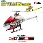 ALZRC - Devil 505 FAST FBL KIT - Silver-New Yellow Canopy