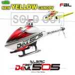 ALZRC - Devil 505 FAST FBL KIT - Silver-New Yellow Canopy QQ