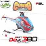 ALZRC - Devil Fast 380 RC Helicopter COMBO (MOTOR + ESC) - Black