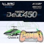 ALZRC - Devil 450 RIGID SDC/DFC KIT Black + Motor + ESC