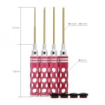 Hexagon Screwdriver Kit - Red - H1.5/H2.0/H2.5/H3.0