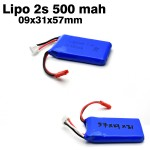 BBR Lipo Battery 2s 7.4v 500mah 25C