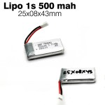 BBR Lipo Battery 1s 3.7v 500mah 25C
