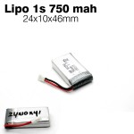 BBR Lipo Battery 1s 3.7v 750mah 25C