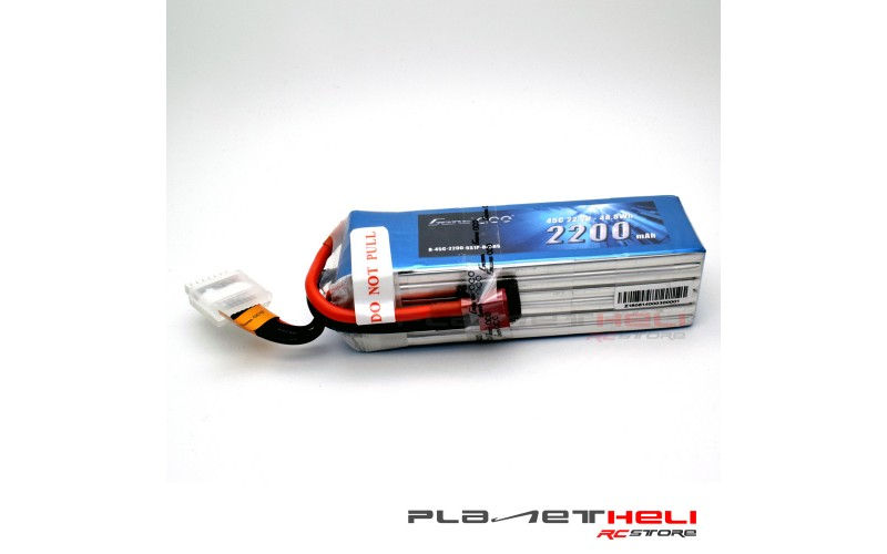 Gens ace 2200mAh 22.2V 45C 6S1P Lipo Battery Pack with T-Plug