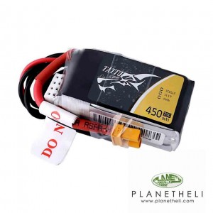 Tattu 450mAh 3S1P 75C 11.1V Lipo Battery Pack with XT30 plug
