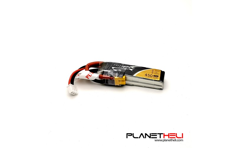 Tattu 450mAh 2S 75C 7.4V Lipo Battery Pack with XT30 Plug-Long size