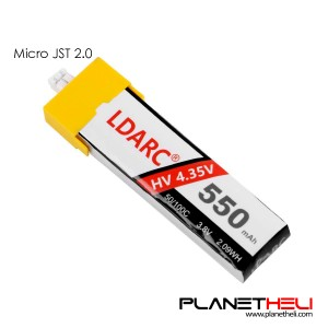 LDARC 550mAh 3.8V 50C LiHV LiPo Battery PH2.0 Plug