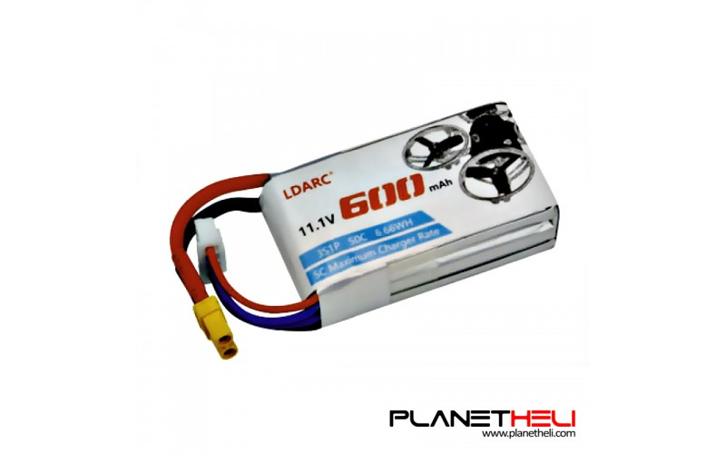 LDARC 600mAh 3S 11.1V 50C/100C Lipo Battery with XT30 Plug