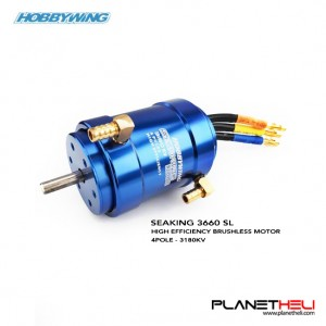 HobbyWing Seaking 3660 3180KV with water cooling system 4-pole brushless motor sensorless for RC boats