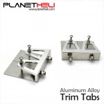 Trim Tabs set (2pcs) 57x50x14mm Aluminum alloy CNC for 80-120cm length RC Boats