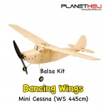 Dancing Wings - K12 Micro Cessna L-19 Premium Balsa Wood Remote Control Airplane Kit