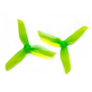 DYS 5*4.2 5 Inch 3 Blade Propeller CW CCW one pair GREEN