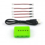 5 port Charger for 1s Lipo Battery Parallel Charger