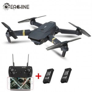 Eachine E58 WIFI FPV With Wide Angle 2MP HD Camera High Hold Mode Foldable Arm RC Quadcopter RTF 2 Batteries