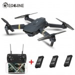 Eachine E58 WIFI FPV With Wide Angle 2MP HD Camera High Hold Mode Foldable Arm RC Quadcopter RTF 3 Batteries