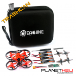 Eachine TRASHCAN 75mm Crazybee F4 PRO OSD 2S Whoop FPV Racing Drone Caddx Eos2 Adjustable Camera 25/200mW VTX - FLYSKY
