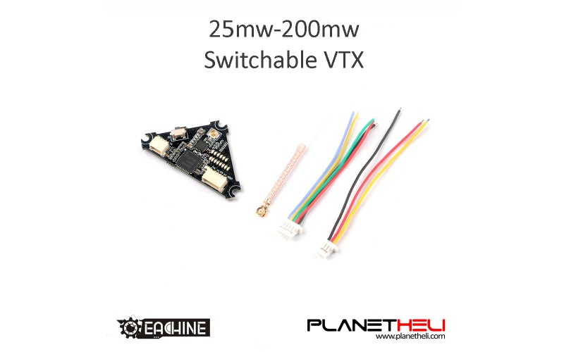 Eachine TRASHCAN 75mm FPV Racing Drone Spare Part 5.8G 25mW~200MW Switchable VTX FPV Transmitter 3.3-5.5V