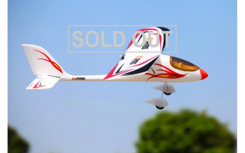 FMS 900mm Red Dragonfly RC Airplane RTF with Flysky FS-i4 (10 8Kg)