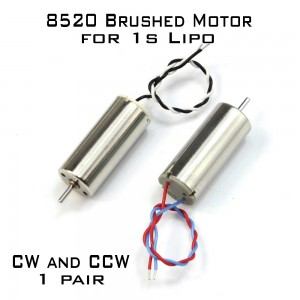 8520 Brushed Motor CW CCW 8.5x20 mm Mini Coreless Motor 2pcs 1S 3.7V