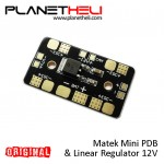 Matek Mini PDB Power Distribution Board With 12V Linear Voltage Regulator For FPV Multicopter