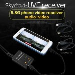 Skydroid UVC Single Control Receiver OTG 5.8G 150CH Channel FPV Receiver Video Transmission Downlink Audio For Android phone