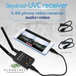 Skydroid UVC Dual Antenna Control Receiver OTG 5.8G 150CH Full Channel FPV Receiver W/Audio For Android Smartphone