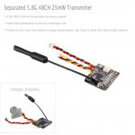 Turbowing 48 channel 5.8G 25mW wireless FPV transmitter