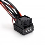 RC Car Flycolor Lighting Series 45A 2-4S RC Car Brushless ESC with 6V 2A BEC for 1:12 Car