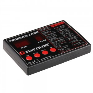 Original Flycolor Programing Card for RC Cars ESC Electronic Speed Controller Parts