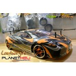 HSP RC Drift Car Flying Fish 4wd FULL Propo 1/10 Scale Ready To Run Lambo Orange