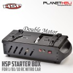 Starter Box With Two motor  For RC Car 1/10 And 1/8 Scale Nitro Power (Black)