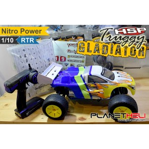 HSP RC Truggy GLADIATOR 4wd FULL Propo 1/10 Scale Nitro Power RTR Ready To Run with 2.4Ghz Remote Control