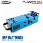 Starter Box For RC Car 1/10 And 1/8 Scale Nitro Power (Blue)
