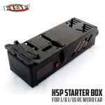 Starter Box For RC Car 1/10 And 1/8 Scale Nitro Power (Black)