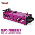 Starter Box For RC Car 1/10 And 1/8 Scale Nitro Power (Purple)