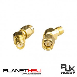 RJX HOBBY SMA Male to SMA Female 45 Degree Antenna Adapter Gold Plated Connector x 2