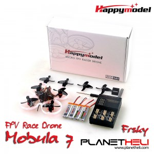 Happymodel Mobula7 75mm Crazybee F3 Pro OSD 2S Whoop FPV Racing Drone w/ 700TVL BNF - FRSKY