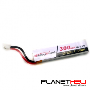 LiHV 300mAh 3.8V 60C Lipo Battery for Race Drone Whoop