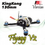 KINGKONG Flyegg 130 with Flysky rx-2A FPV Racer Mini Brushless Drone Quadcopter BNF Version