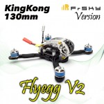 KINGKONG Flyegg 130 with Frsky XM FPV Racer Mini Brushless Drone Quadcopter BNF Version