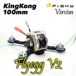 KINGKONG Flyegg 100 with Frsky rx XM FPV Racer Mini Brushless Drone Quadcopter BNF Version