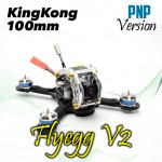 KINGKONG Flyegg 100 PNP No RX FPV Racer Mini Brushless Drone Quadcopter