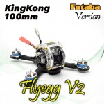 KINGKONG Flyegg 100 with Futaba FM800 FPV Racer Mini Brushless Drone Quadcopter BNF Version