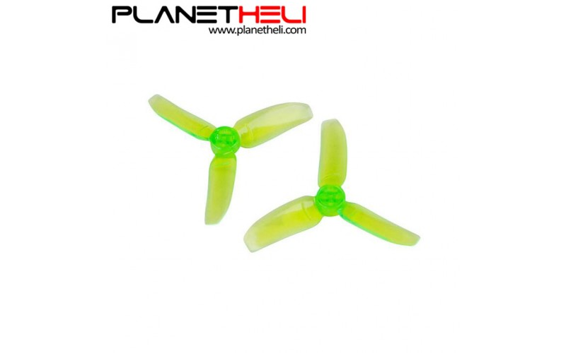 Kingkong 2840 2.8X4 CW CCW 3-blade Propeller 1.5mm Mounting Hole for FPV Quadcopter RC Racer Drones (2 pair) Green
