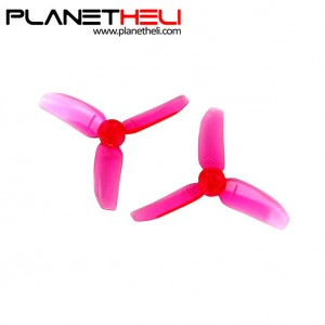 Kingkong 2840 2.8X4 CW CCW 3-blade Propeller 1.5mm Mounting Hole for FPV Quadcopter RC Racer Drones (2 pair) Pink